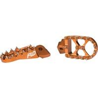 Flo Motorsports - FPEG-795ORG - Pro Series Foot Peg, Orange