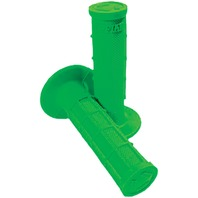 USA Made MX Half Waffle Grips in Green by ODI H01RFN