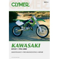 1992-2000 Kawasaki KX125 Service Shop Manual by Clymer M472-2