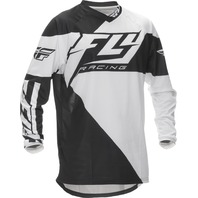 Youth Medium Fly Racing F-16 Jersey Black/White  370-920YM
