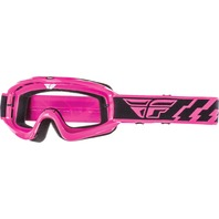 Youth MX Dirt Bike Goggles in Pink - Fly Racing Focus Line 37-3014