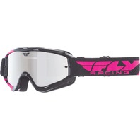 Adult Fly Racing Zone MX Dirt Bike MX Goggle in Black/Pink 37-3022-WPS