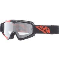 Adult Fly Racing Zone MX Dirt Bike Goggle Black/Orange 37-3023-WPS