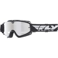 Youth Fly Racing Zone MX Dirt Bike Goggle in Black/White 37-3026