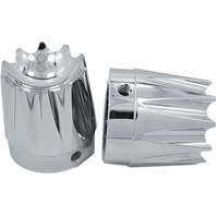 Avon Grips - AXL-EX-CH - Excalibur Axle Nut Covers, 1in. - Chrome