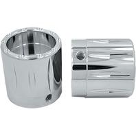 Avon Grips - AXL-RIV-CH-78 - Rival Axle Nut Covers, 7/8in. - Chrome