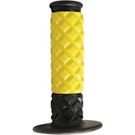 Avon Grips - ATVD10 - Diamond ATV Grips, Yellow