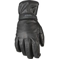 Large Rumble Leather Motorcycle Glove (Gauntlet) in Black by Fly 476-0050L