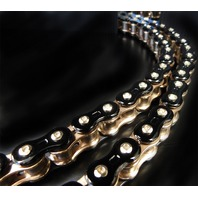 EK Chain - 530Z/3D/K-150 - 530 Z 3D Premium Chain, 150 Links - Black/Gold