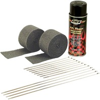 DEI - 901330 - Exhaust Wrap Kit, Black Wrap with Black Coating