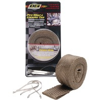 DEI - 901123 - Exhaust Wrap and Tie Kit, Titanium