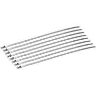 DEI - 010201 - Stainless Steel 8in. Locking Exhaust Ties, 8 Pack
