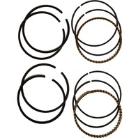 Cycle Pro - 28024M - Piston Rings, Standard - Chrome