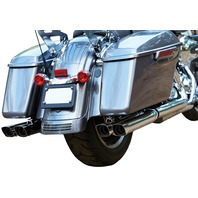 FireBrand - 10-1004 - Double Down 2.5in. Touring Slip-Ons, Chrome